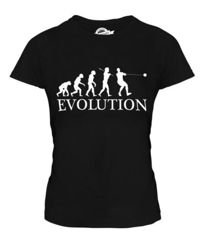 HAMMER THROW EVOLUTION OF MAN LADIES T-SHIRT TEE TOP GIFT ATHLETICS