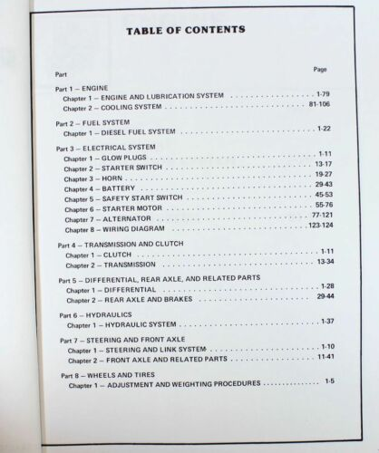 FORD 1100 TRACTOR SERVICE REPAIR SHOP ENGINE MANUAL TECHNICAL NEW OEM OVERHAUL