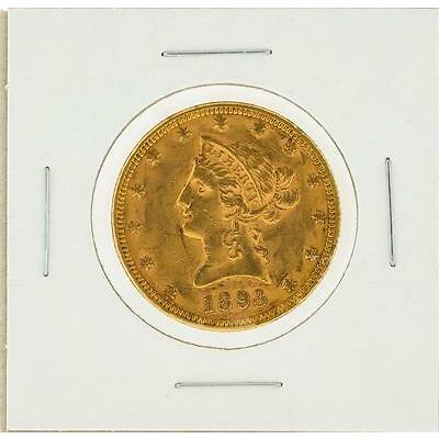 1893 $10 AU Liberty Head Eagle Gold Coin Lot 189