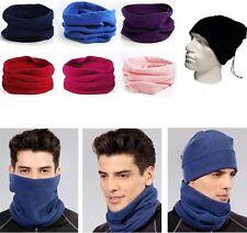 Cappello Sciarpa Scaldacollo Tutto in 1 Taglia Unica Colore  Nero Morbido Pile