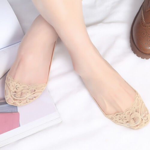 Frilly Short Net Invisible Fish Fishnet Mesh Socks Lace Cotton Ankle