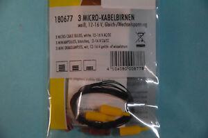 Faller-180677-Micro-Kabelbirnem-3-Stueck-180671-NEU