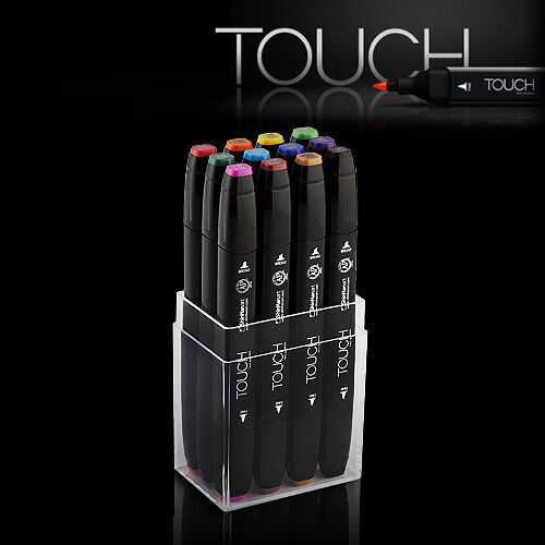 ShinHan Art TOUCH TWIN 12 Marker Set Twin tips - 12 MAIN COLORS