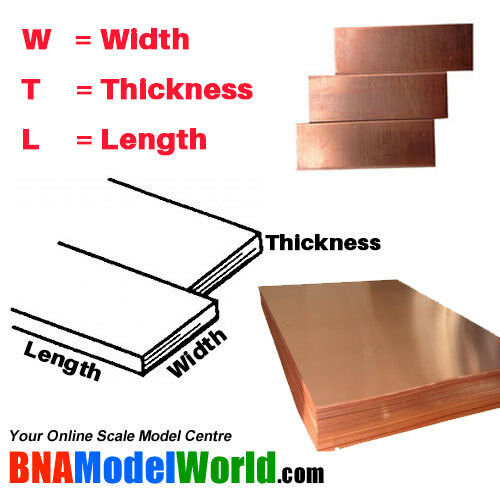 22 gauge L: 254mm K/&S Metals Copper Sheet T: 0.64mm W: 101.6mm