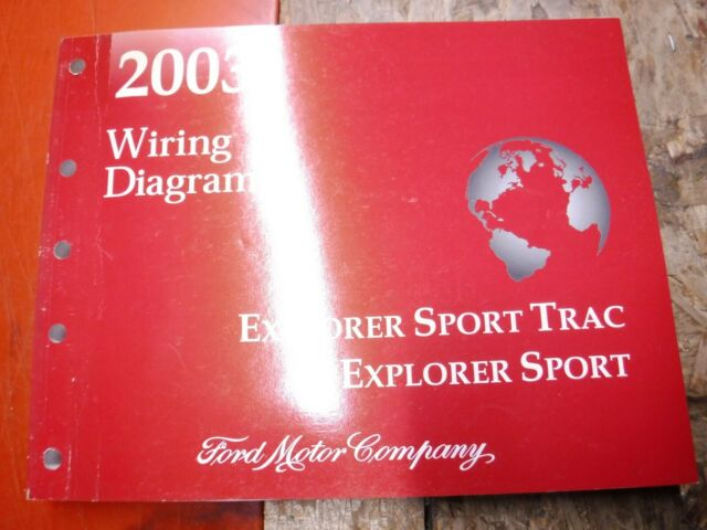2003 Ford Explorer Sport Trac Sport Factory Wiring