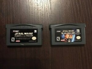 Nintendo-Game-Boy-Advance-Star-Wars-Games-New-Droid-Army-Flight-of-the-Falcon