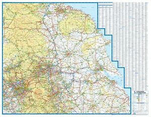 Details about Yorkshire & Humberside Road Map by A-Z Maps (Wall Map, Paper)