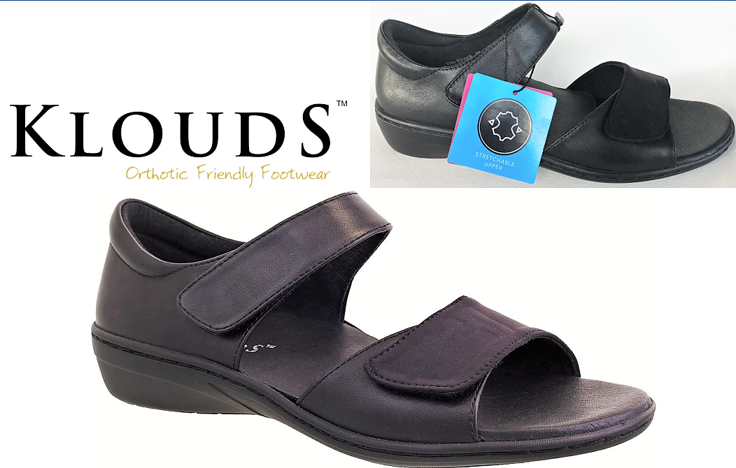 Klouds shoes  Orthotic friendly comfort leather closed back Sandals Viva stretch