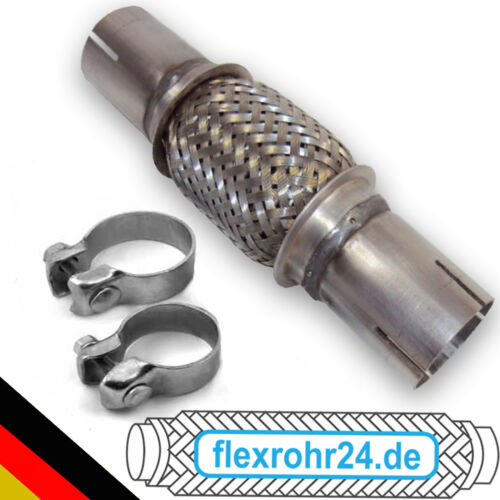 Flexrohr Flexstück Auspuff 65x200//320 mm ohne schweißen inkl Schellen Abgas pipe