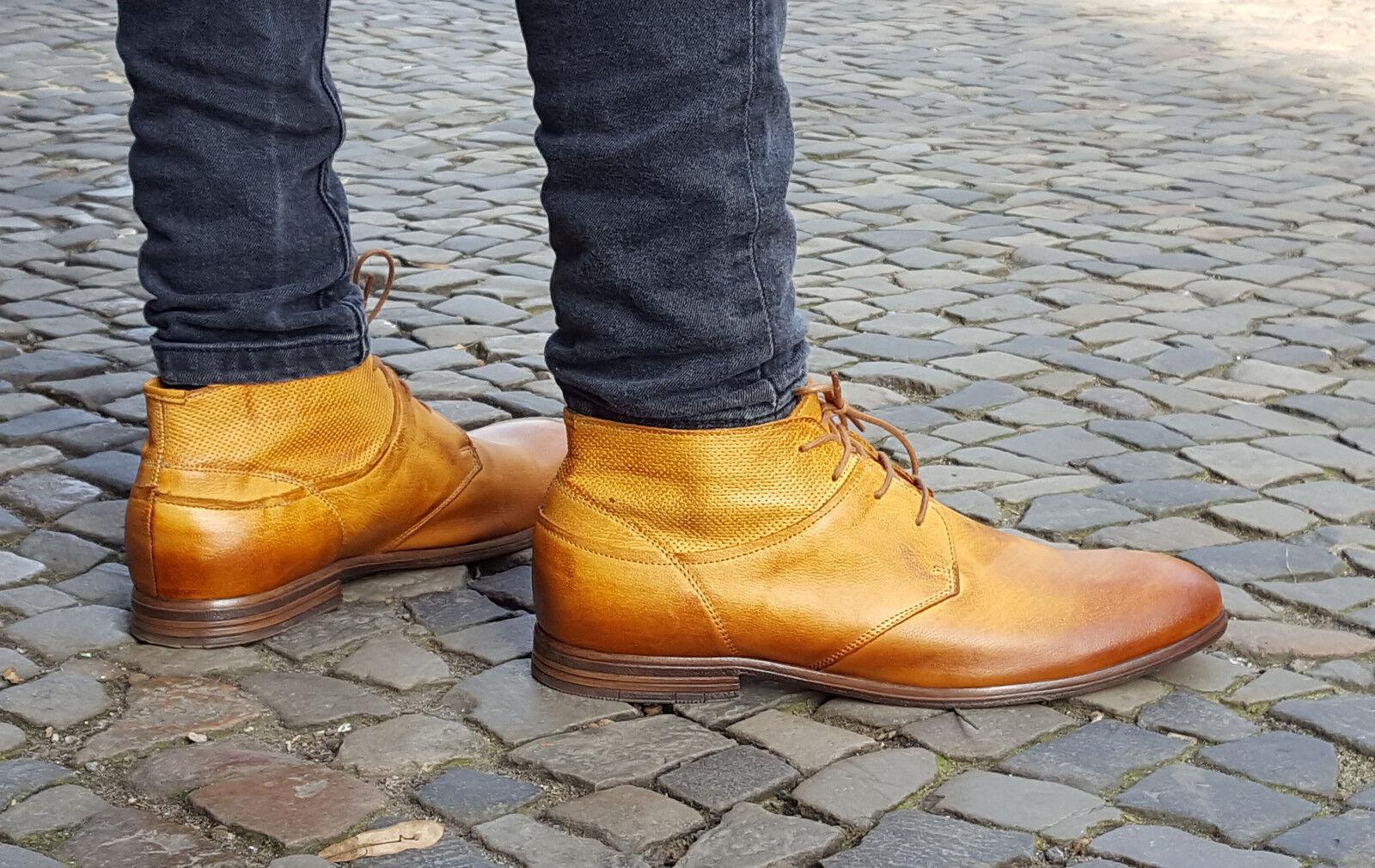 COXX BORBA Schuhe PILAU600 braun Herrenschuhe Echtleder Schnürschuhe Portugal