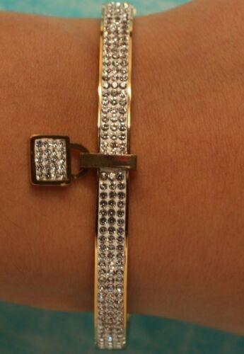 Bangle Bracelet 14K Yellow Gold Finish Round Brilliant Cut Diamonds 5 Carats