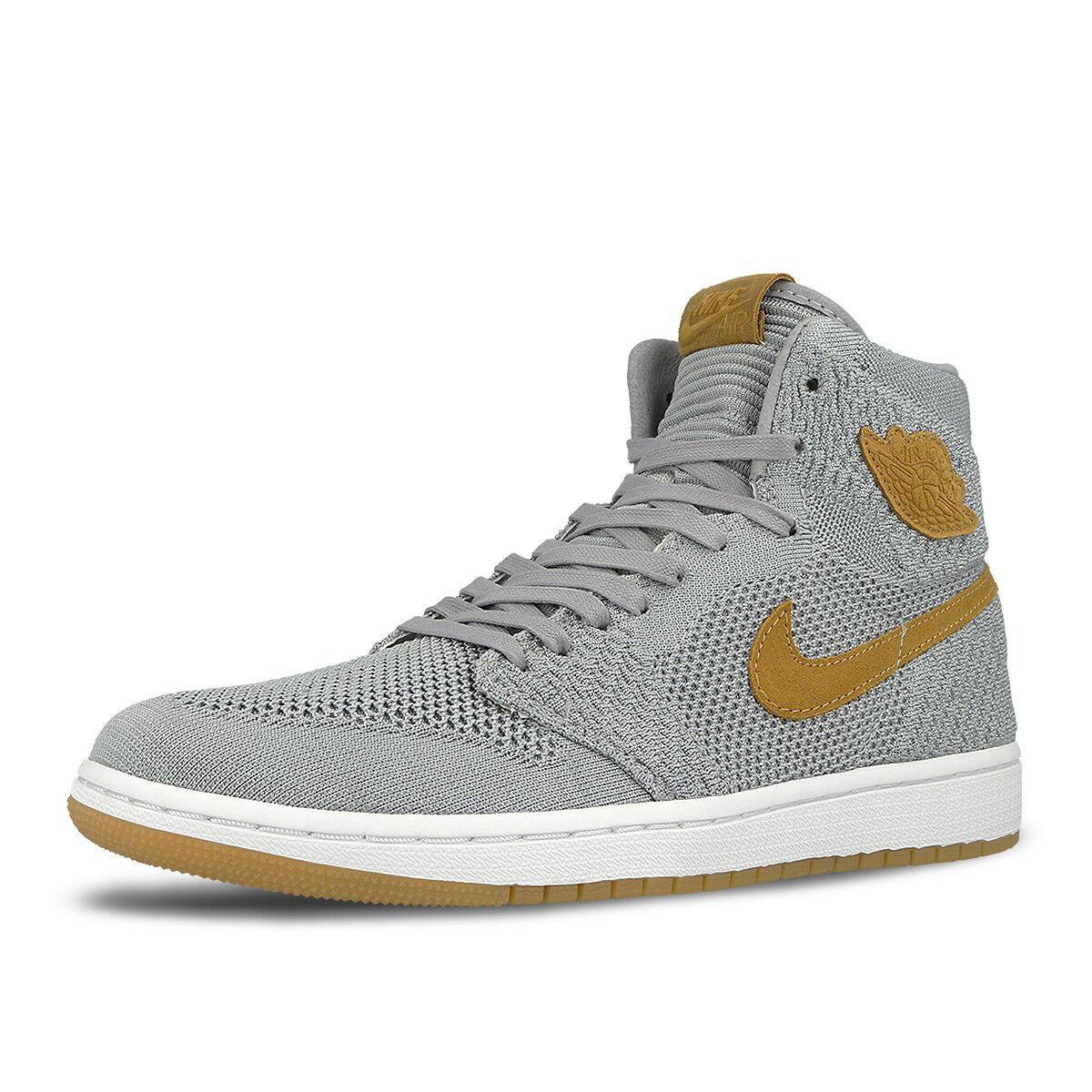 Nike air jordan retro - 1 uomini lupo grigio flyknit raccolto 919704-025 us7-11 04