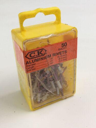 CK TOOLS 3.15MM X 6MM SHORT ALUMINIUM RIVETS T3819A 408