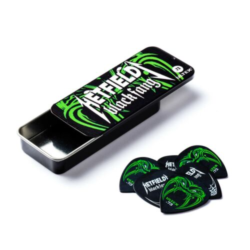 Metallica Dunlop James Hetfield Black Fang Pick Tin and 6 Picks  .73mm