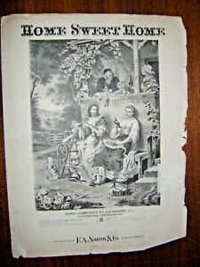 Vintage Sheet Music Home Sweet Home-HR Bishop=Piano solo ...