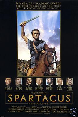 Spartacus Kirk Douglas vintage movie poster print