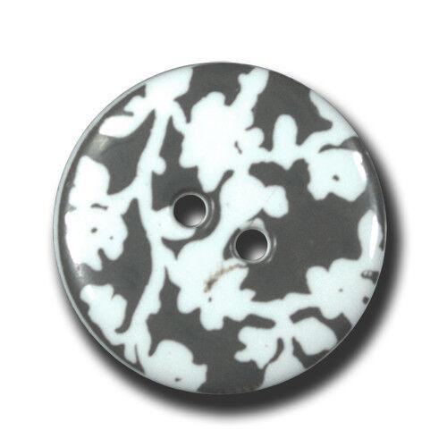 mit hübschem Schattenriss-Design 8 weiß graue Knöpfe