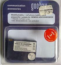 Telefonia mobile BATTERIA 66148 MP Siemens a55/c55/m55/s55/mc60 SB
