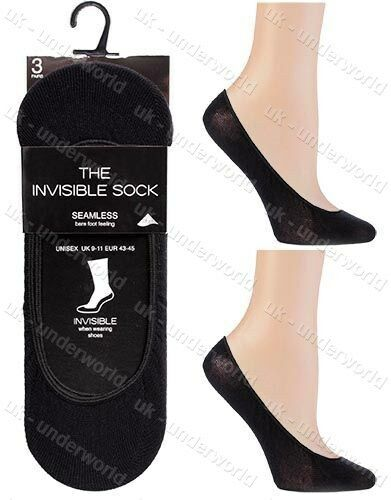 Invisible Trainer Socks Mens Ladies Seamless Plain Shoe Liner Womens No Show