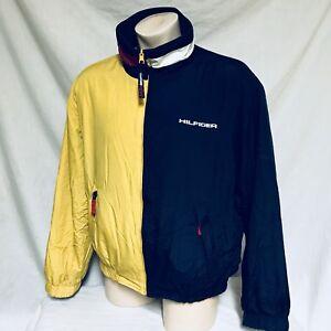 43dc736f6b5ff Image is loading VTG-Tommy-Hilfiger-Jacket-Colorblock-90s-Fleece-Reversible-