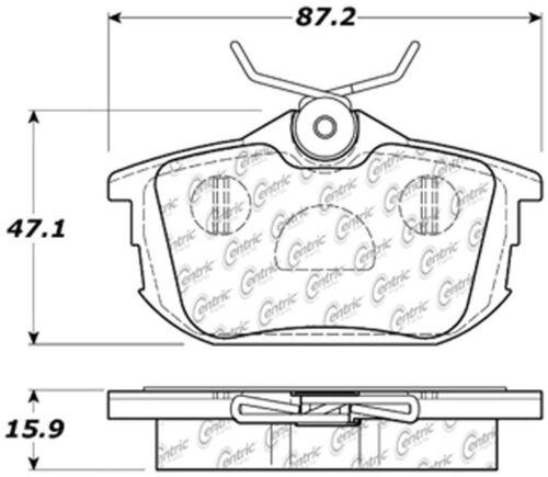 Disc Brake Pad Set-C-TEK Metallic Brake Pads Rear Centric 102.08380