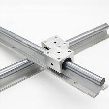 2X SBR20 500mm LINEAR RAIL20MM fully suppoeted SHAFT ROD + 4 SBR20UU Block