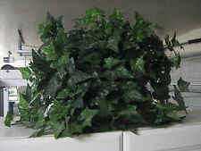 Artifical Silk Ivy Plant in Wicker Basket Shelf Home Interior Office Decor
