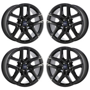 20 Ford Explorer Sport Black Wheels Factory Oem 2017 2018 Set 10061