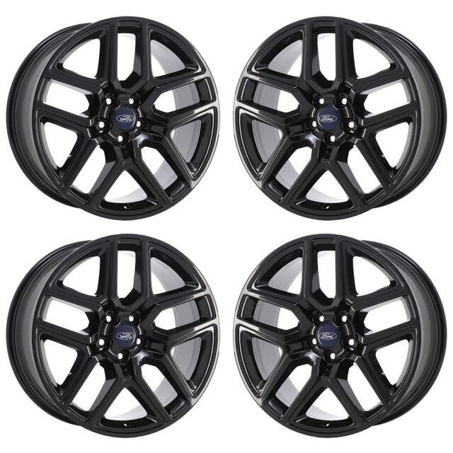 20 Ford Explorer Sport Black Wheels Factory Oem 2018 2019 Set 10061 Exchange