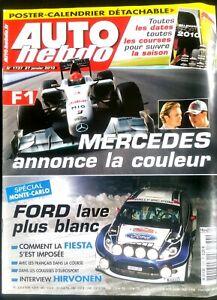 Auto Hebdo Du 27/01/2010; Mercedes/ Spécial Monte-carlo; Fiesta S'impose/ Hirvon