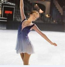 Women Competition Ice Skating Dress for Girls Black Red Custom Figure Skating Dresses Kids