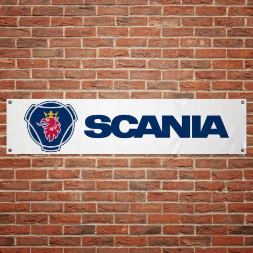 Scania Banner Garage Workshop PVC Sign Trackside Truck Wagon Lorry Saab Display