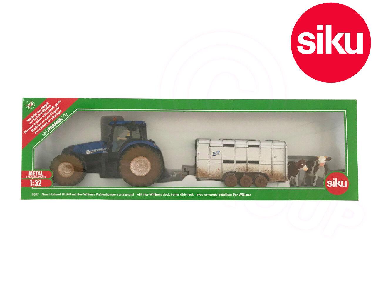 SIKU 8607 Muddy New Holland T8.390 T8.390 T8.390 tracteur  IFOR WILLIAMS Remorque 1:32 Die-Cast | Une Grande Variété De Marchandises  995a1f