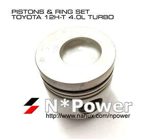 040-PISTON-amp-RING-SET-6-for-TOYOTA-12H-T-4-0-12V-Coaster-HB31-Landcruiser-HJ61