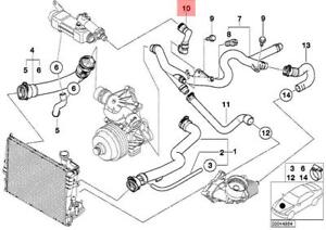 Details about Genuine BMW E38 E39 E46 Compact Cooling System Water Hose OEM  11532249314