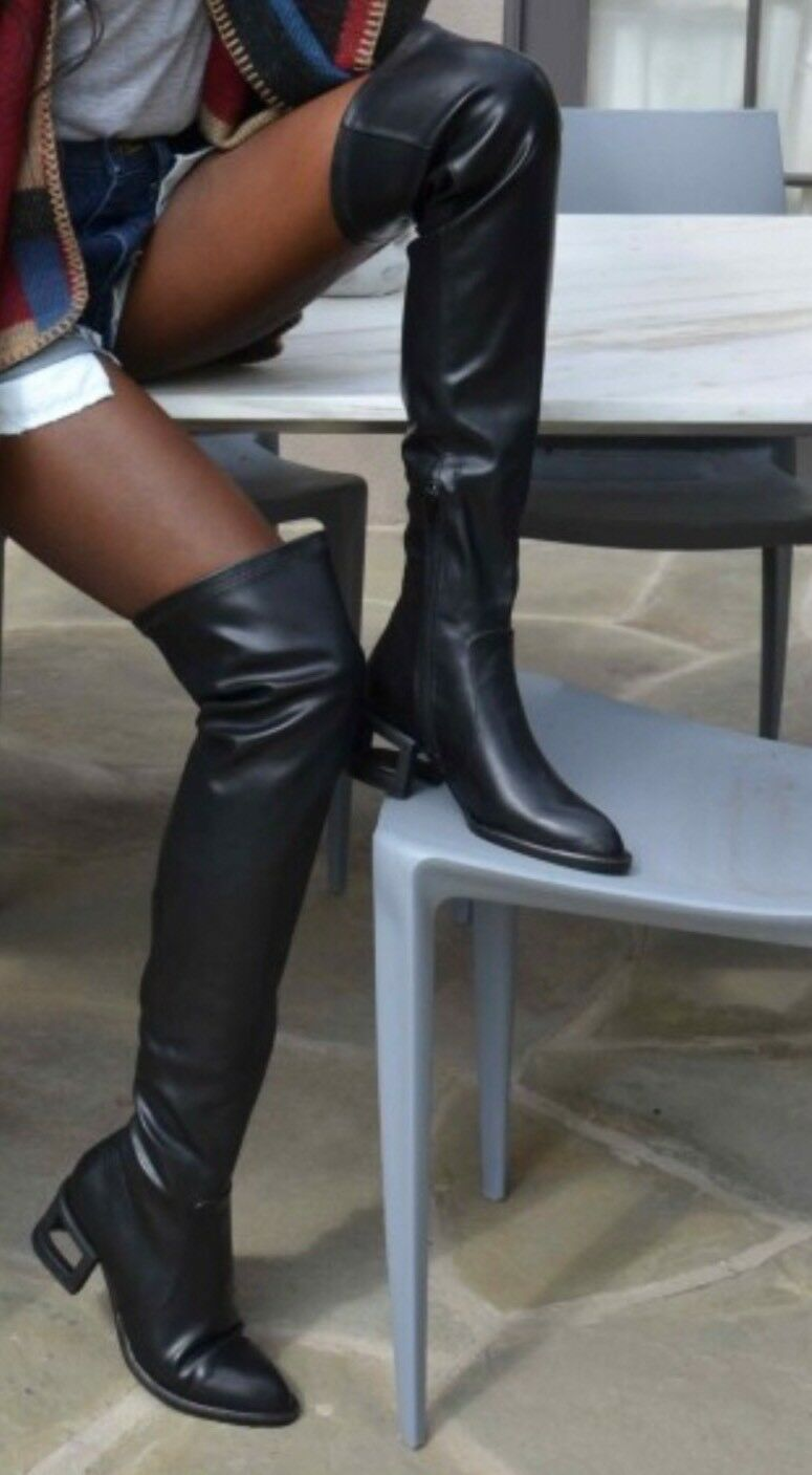 Jeffrey Campbell Basie Boot - Blackout boots size 6