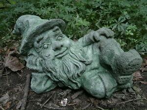 Image Is Loading Cement 10 034 Long Lying Elf Leprechaun Gnome