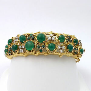 Image Is Loading Retro Deco 18k Gold Jack Gutschneider 12ctw Emerald