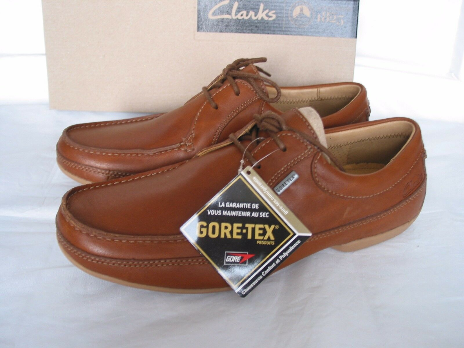 NEW CLARKS RAISE COOL VARIOUS SURROUND GORETEX TAN LEATHER SHOES VARIOUS COOL SIZES 030d41