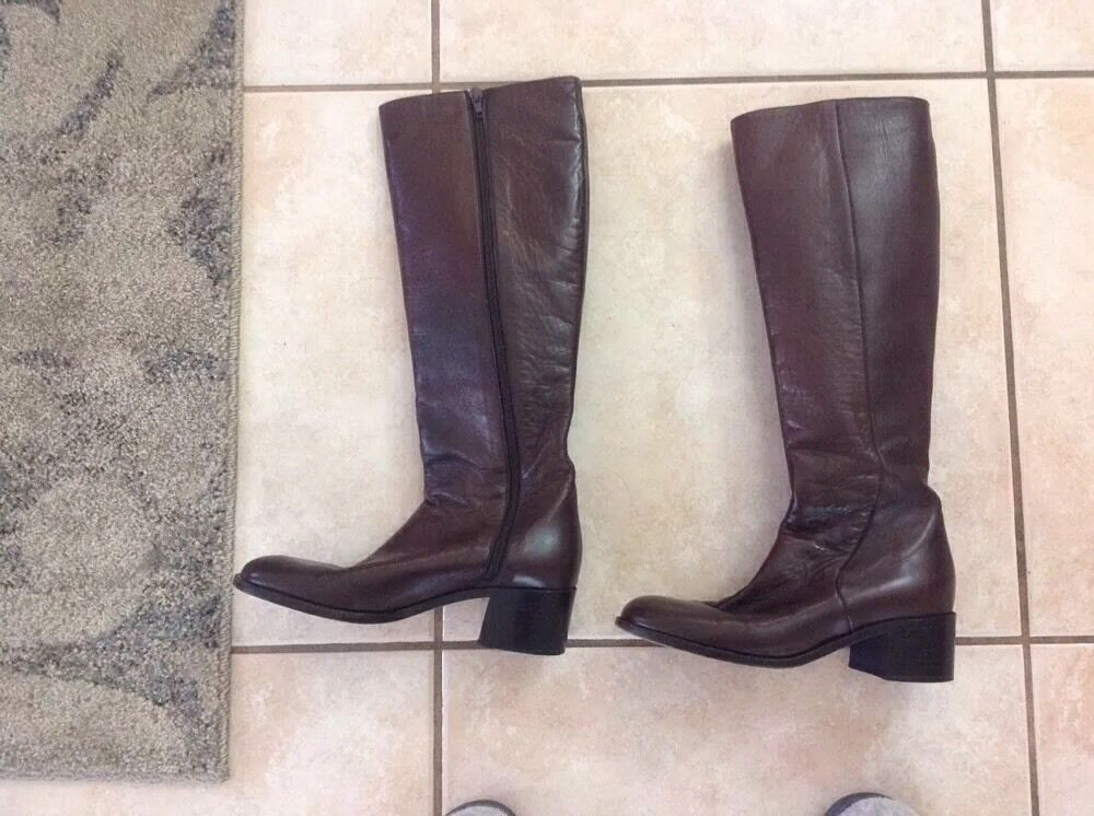 COLE HAAN SZ HIGH 7M BROWN LEATHER KNEE HIGH SZ Stiefel 2