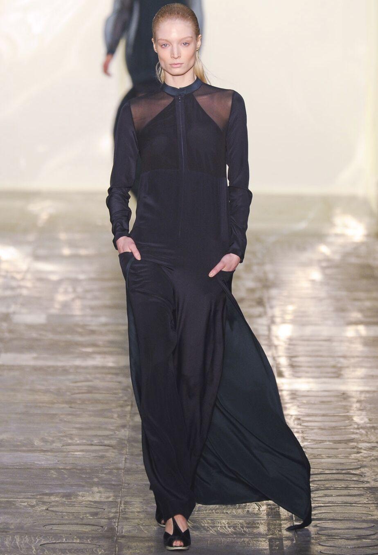 RICHARD NICOLL bluee Silk Dress Gown Jumpsuit 8