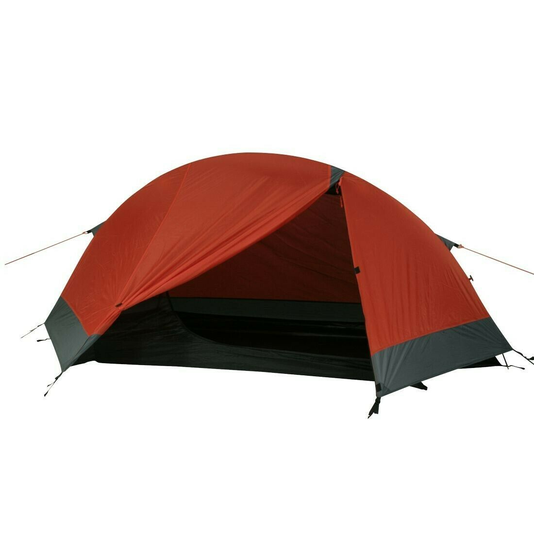 Silicone Sky 1 dome tent 1 pers single bow tent waterproof 5000mm orange-red