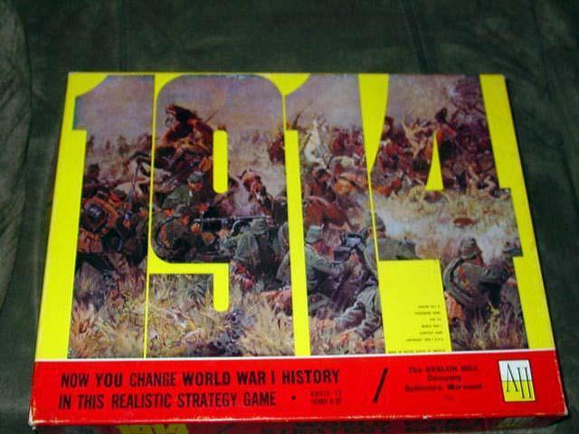Avalon Hill - 1914 I guerra mundial-frente occidental clásico juego de estrategia (perforado)