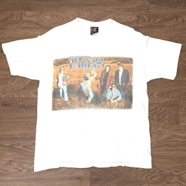 5fd408183be745 Vintage Eagles Hell Freezes Over World Tour 1994 Giant T Shirt Size XL