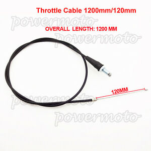 1200mm Straight Head Throttle Cable For DR 50 70 90 Baja DR50 DR70 DR90 DirtBike