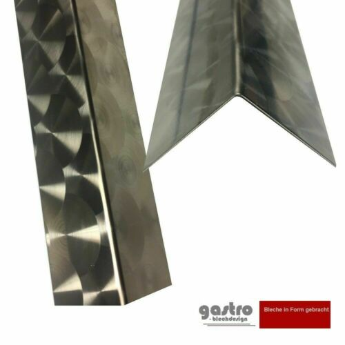 Acier Inoxydable Angle 10x40 Protection De Bord 1500 mm tôle profils Angle Profil eckschienen