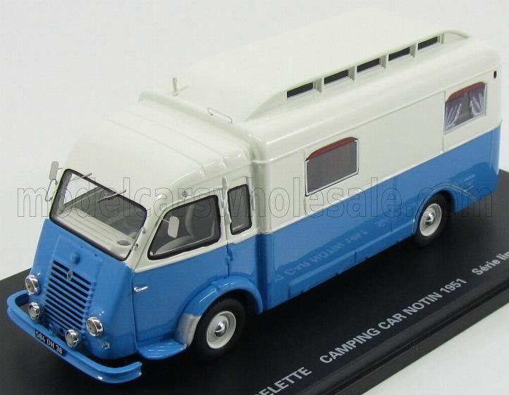 Wonderful modelcar RENAULT GOELETTE CAMPING BUS NOTIN 1951 -bluee  white - 1 43