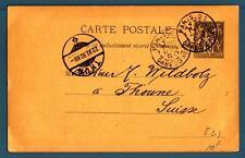 FRANCE - FRANCIA - 1890 - Da Parigi a Thun (Canton Berna)-Svizzera - Cart. Post.