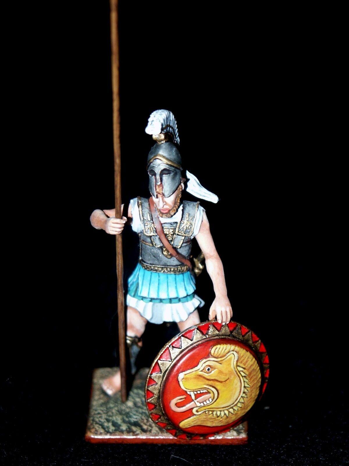 St. Petersburg. Amber Greek Hoplite w Long Spear & Shield 54mm