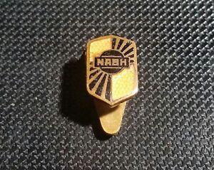 Nash Knopf Emailliert 30er Jahre 8x12mm Alt+original Ausgereifte Technologien Pins & Anstecknadeln